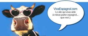 This cow is advertising a web site, which she says will teach you