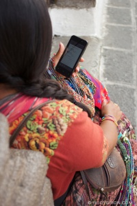 mayan woman cell phone p1528958387-41