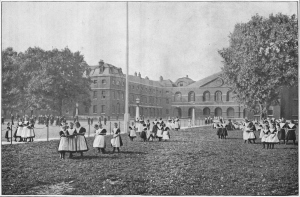 In the Foundling Hospital grounds, London, c1901 (1901)